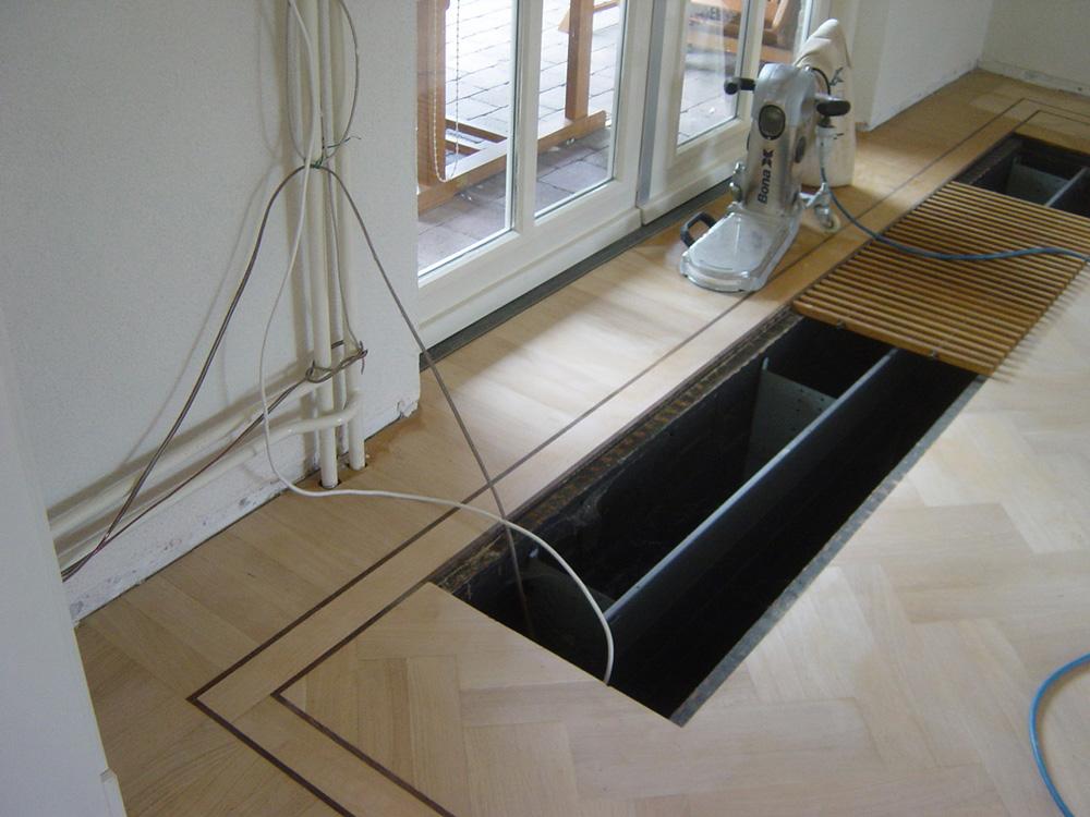Projectfoto 2, renovatie visgraat vloer