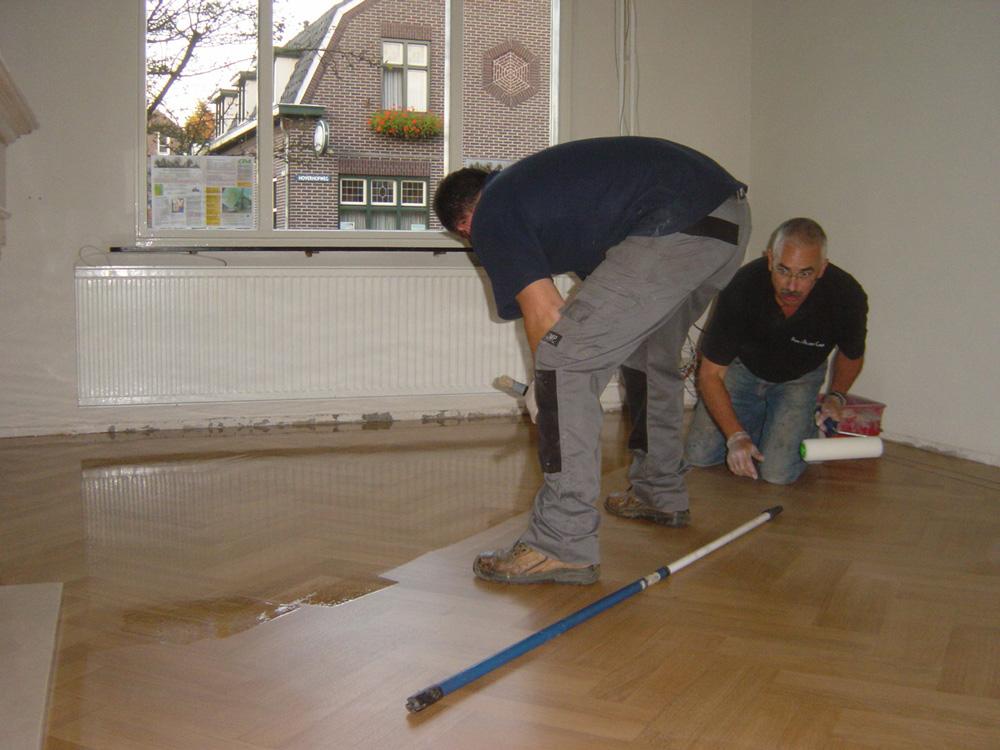 Projectfoto 3, renovatie visgraat vloer
