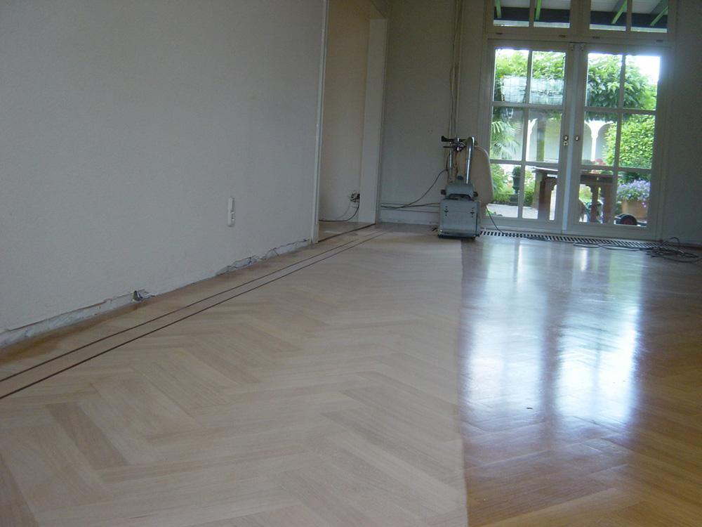 Projectfoto 5, renovatie visgraat vloer