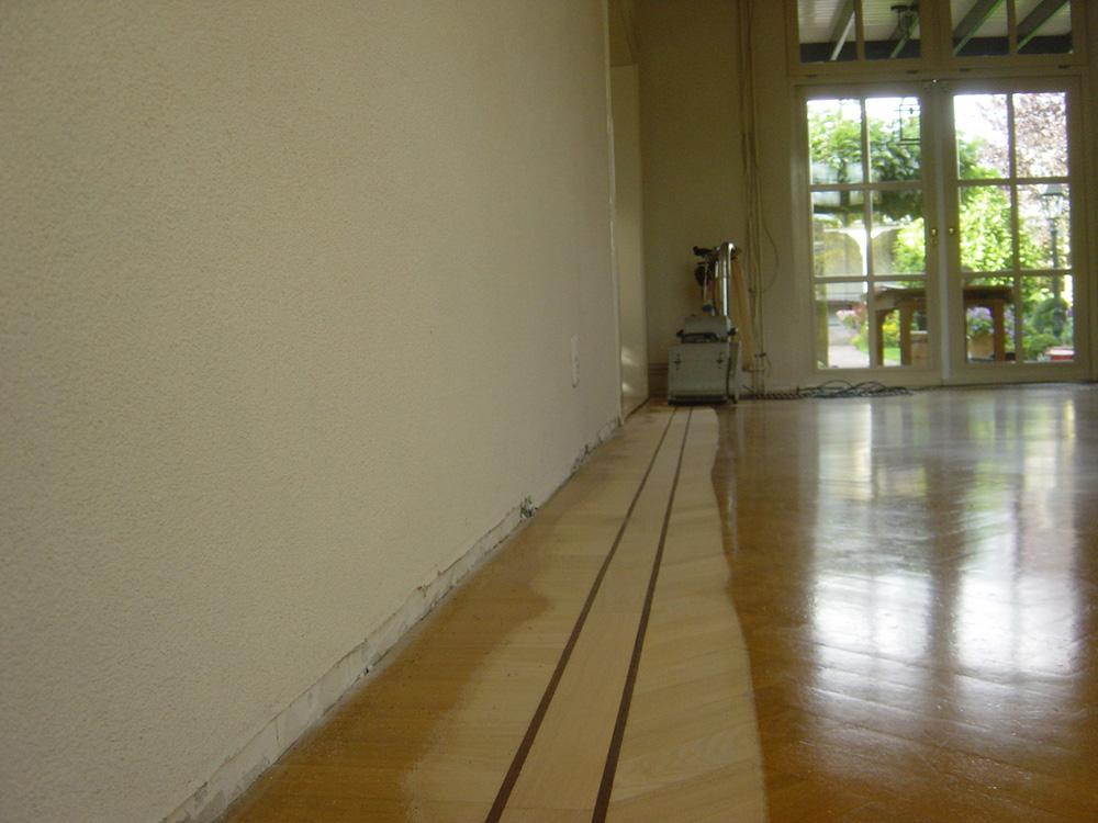 Projectfoto 6, renovatie visgraat vloer
