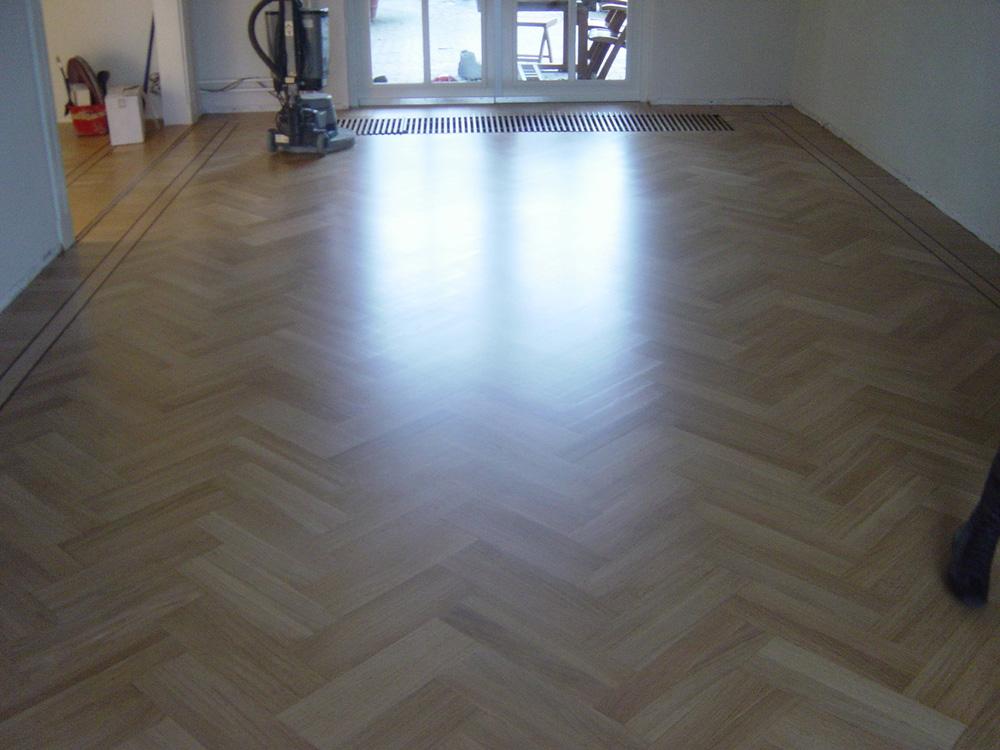 Projectfoto 7, renovatie visgraat vloer