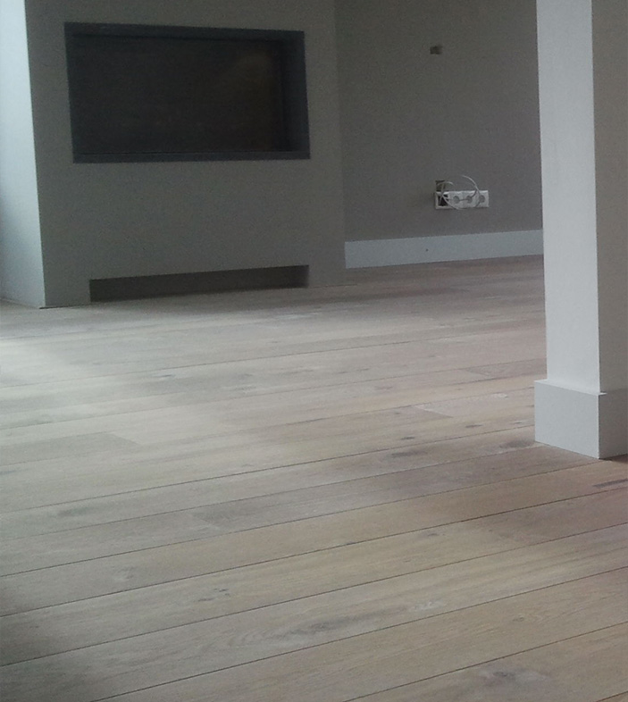 Foto 1, project white wash olie vloer | Bouten Parket