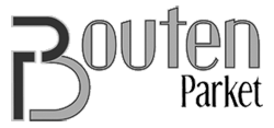 Zwart-wit logo Bouten Parket